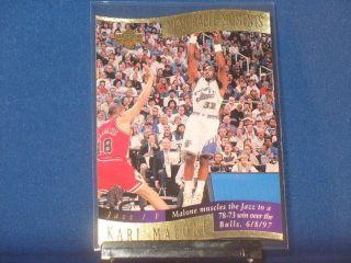 Karl Malone 1997 98 Collectors Choice Memorable Moments #7 Utah Jazz