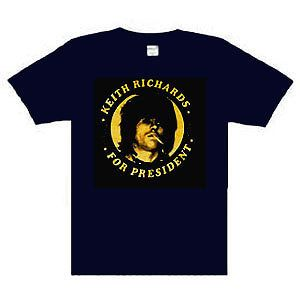 Keith Richards For President music punk rock t shirt Navy S 2XL