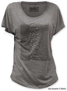 Joy Division Unknown Pleasures Officially Licensed Junior Dolman Shirt