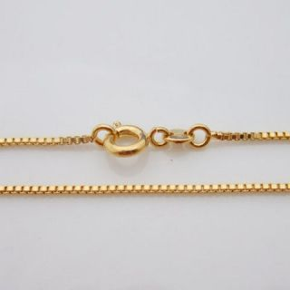 24K Gold Plated Child Necklace Box Chain Jewellry 35cm