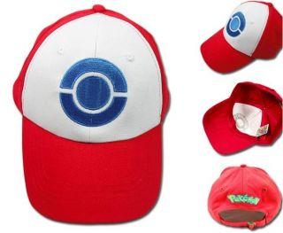 Anime Pokemon ASH KETCHUM Trainer Cap Costume Cosplay Hat