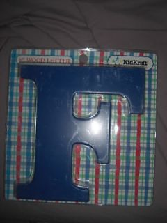 newly listed new blue kidkraft wooden letter f time left