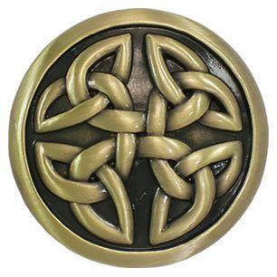 new vintage brass celtic round knots mens belt buckle