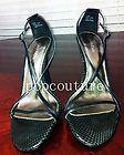 CALVIN KLEIN Faux Snakeskin Leather Sandal Heels 9 1 2