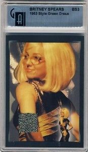 britney spears graded costume card bs3 from united kingdom