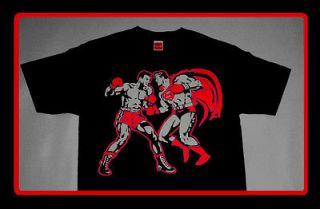 Superman Muhammad Ali iv shirt boxing supreme tee clark kent sz M