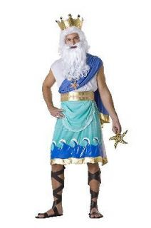 Adult Poseidon Greek God Halloween Holiday Costume Party (Size