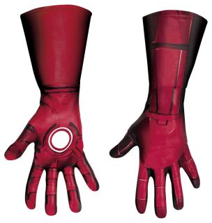 ADULT IRON MAN MARK 7 GLOVES COSTUME DRESS ACCESSORY DG43718