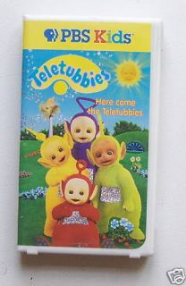 vhs pbs kids here come the teletubbies plays great time
