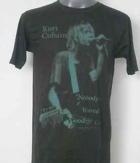 nirvana kurt cobain t shirt black size large