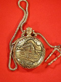 Lucerne Antimagnetic Mechanical Pocket Watch   Train/Steam Locomotive