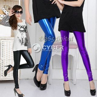 Girls Metallic Colorful shiny / Sparkle Spandex Tights Leggings