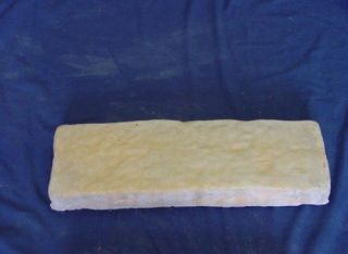 STRAIGHT ROCK LOOK BORDER EDGING CONCRETE CEMENT STEPPING STONE MOLD