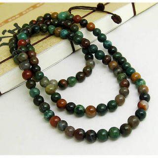 108 6mm Indian Jade Gemstone Buddhist Prayer Beads Mala Necklace  26