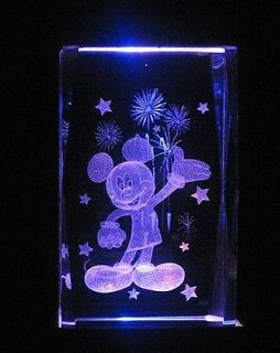 newly listed 3 d laser crystal disney mickey mouse w