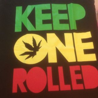 ROLLED T SHIRT Wiz Khalifa marijuana Weed kush Hip Hop rap M to 2XL