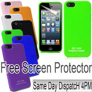 SOLID TPU GLOSSY OCC SERIES IMD SILICONE FOR APPLE IPHONE 5 5G CASE
