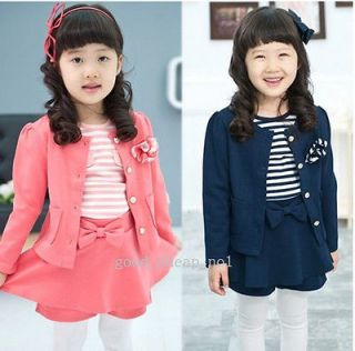 Korean college Western style clothes childrens skirt suit dress