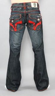 New Mens Laguna Beach Jeans Seal Beach Red Stitch Bootcut 33