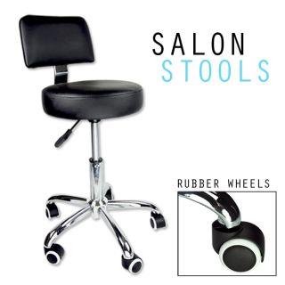 Black Hydraulic Stool Chair Facial Salon Tattoo Beauty Mobile Salon PU