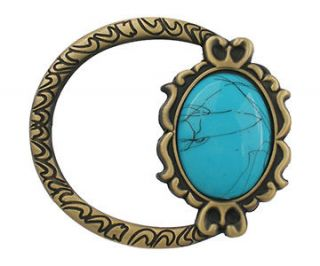 antique brass oval turquoise ring womens belt buckle