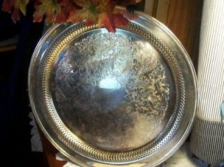 antique silver plate serving tray platter  6