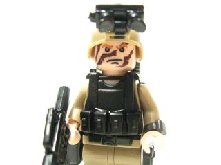 Lego custom Marine Navy Seal Army Delta trooper Dessert Soldier DRK