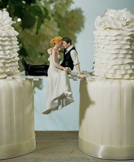 The Look of Love Romantic Wedding Cake Topper Custom Hair Colors