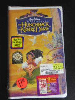 the hunchback of notre dame vhs time left $ 7