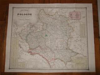 1840.MAP,RZECZPOSPOLITA,POLSKA,POLEN,POLAND,POLONIA,LITHUANIA,UKRAINE