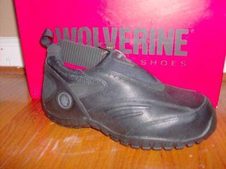 nib womens wolverine slip on steel toe work shoe sizes