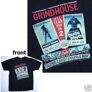 GRINDHOUSE PLANET TERROR DEATH PROOF DOUBLE FEATURE BLK T SHIRT LARGE