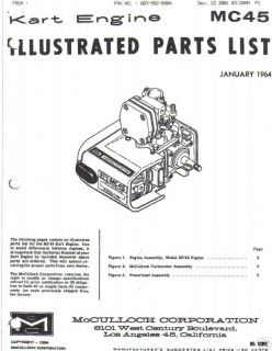 mcculloch kart engine mc 45 parts manual free shipping time