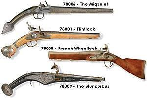Lindberg French Wheellock Pirate Pistol Plastic Model Kit
