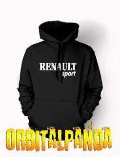 Black Hoodie with RENAULT SPORT Logo   megane clio 182 laguna rt 16v
