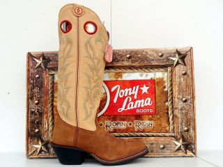 Tony Lama 3R Womens Rojo Brindle Leather Buckaroo Cowgirl Boots