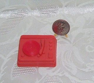 VINTAGE 1960S BARBIE DOLL SIZE ACCESSORY RECORD PLAYER MARKED HONG