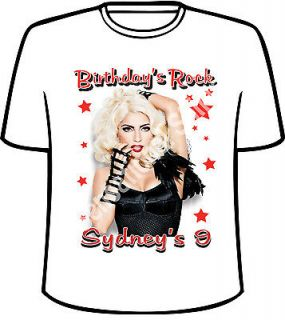 personalized lady gaga birthday t shirt