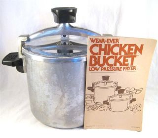 Wear Ever Chicken Bucket Low Pressure Fryer Stove Top Vintage Aluminum