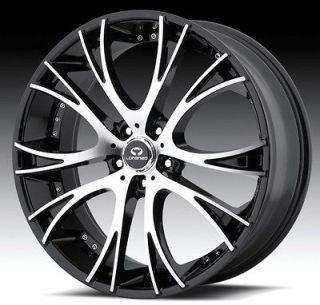 20 inch staggered lorenzo WL034 black wheels rims 5x4.5 5x114.3 +38