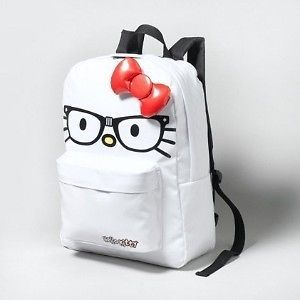NWT Limited Edition Loungefly Hello Kitty White Geek Backpack with