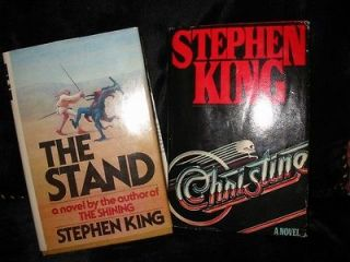Stephen King 2 Hardcover Book Lot The Stand and Christine