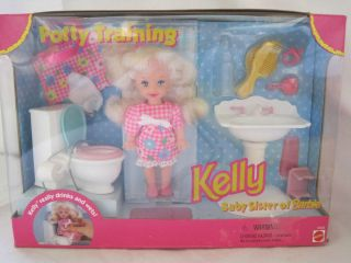 1996 MATTEL KELLY   BARBIES BABY SISTER   POTTY TRAINING SET   NEW IN