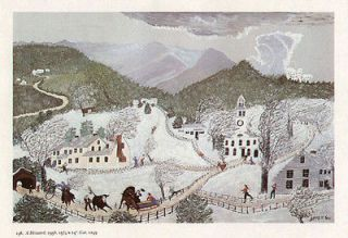 grandma moses print winter snowstorm a blizzard one day shipping