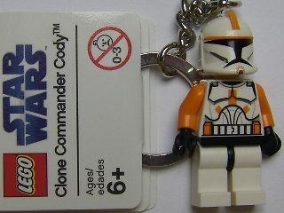 STAR WARS LEGO CLONE COMMANDER CODY KEYRING KEYCHAIN ORIGINAL