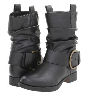 Steve Madden Girl NEW Ablee Black Buckle Western Motorcycle Boots