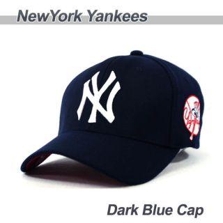New York Yankees Team Baseball Cap Dark Blue Cap with White Logo NY02