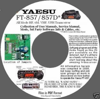 yaesu ft 857 857d manuals software info cable info cd