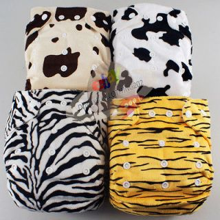 CUTE RE USABLE BAMBOO BABY DIAPER CLOTH NAPPY+BAMBOO INSERT Animal