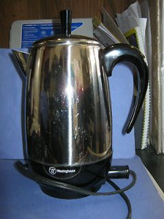 Vintage Westinghouse Chrome 8 Cup Electric Percolator Coffee Maker
